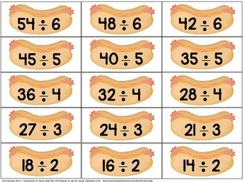 Division Facts Math Center