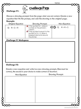 Division Facts Solve & Draw Practice