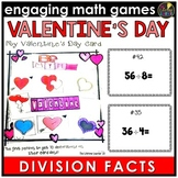 Valentine's Day Division Facts Game