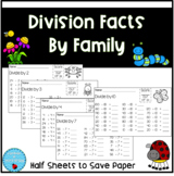 Division Facts by Family