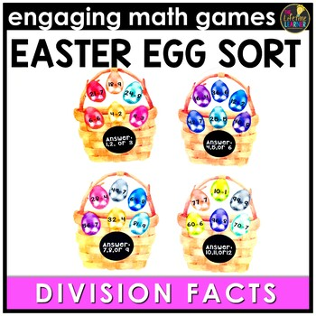 Easter Math Game - Division Facts