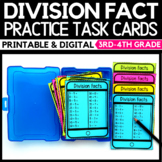Division Fact Practice Cards - Classroom and Digital Dista