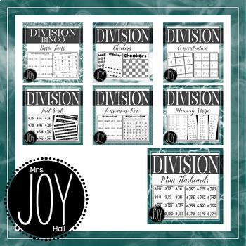 Division Facts Activities Bundle
