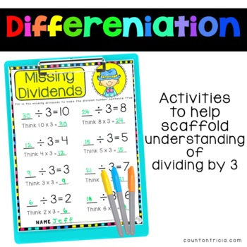 Division Facts Activities Dividing by 3
