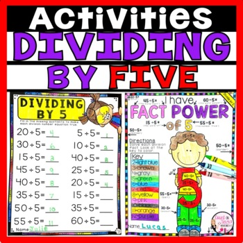 Division Worksheets Activities Dividing by 5