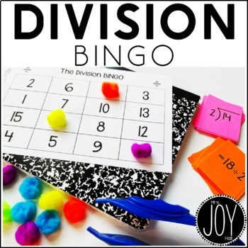 Division Facts BINGO 1-12 - 12 Different Games - Separated by Number Sets