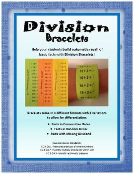 Division Facts Bracelets