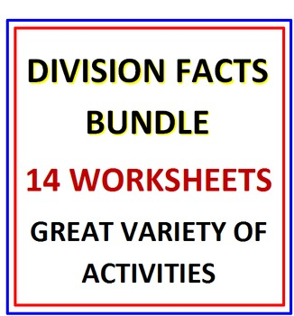 Division Facts Bundle 14 Worksheets