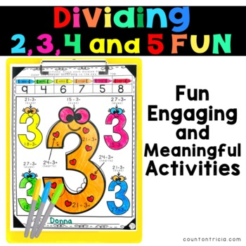 Division Facts Bundle Dividing by 2, 3, 4 and 5