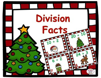 Division Facts Center- Holiday Themed