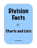 Division Facts - Charts and Resources