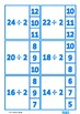 Division Facts Times Table Clip Cards, Autism & Special Education Math
