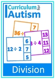 Division Facts Times Tables Autism Independent task