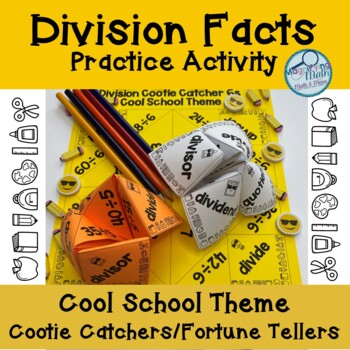 Division Facts Cootie Catcher