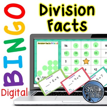 Division Facts Digital Bingo