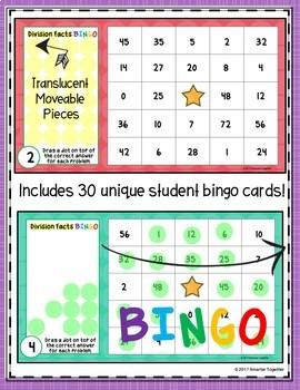 Division Facts Digital Bingo