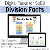 Division Facts | Digital Tasks for Special Education