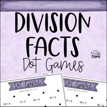 Division Facts Math Centers: Dot Games