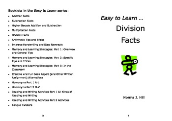 Division Facts - Easy to Learn Series