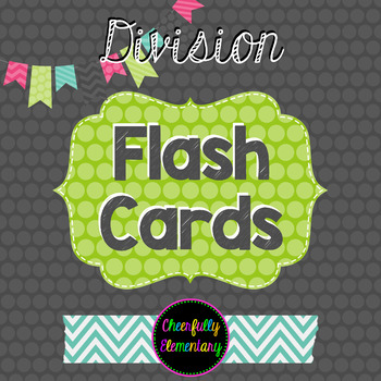 Division Facts Flash Cards 1-9: Self-Checking!