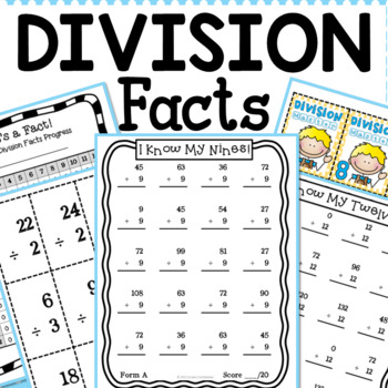 Division Facts Flash Cards & Tracking System