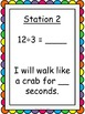 Division Facts Fluency Kinesthetic Exercise Activity