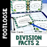 Division Facts 2 Task Cards Footloose Math Game