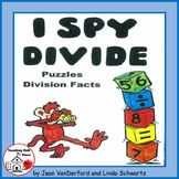 I Spy Divide   Practice Division Facts  Puzzles | FUN NO PREP  Gr 3 CORE MATH