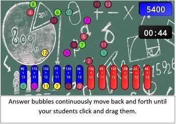 Division Facts SMART Board /  Interactive Whiteboard Game