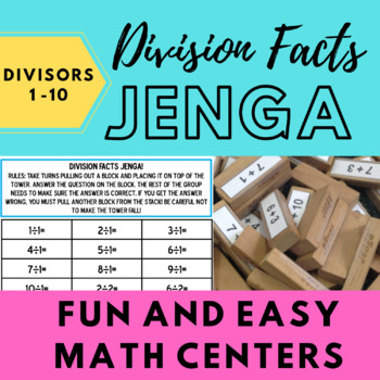 Division Facts Jenga!