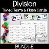 Division Timed Tests and Flash Cards Bundle