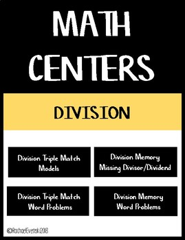 Division Facts Math Centers Bundle