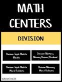 Division Facts Math Centers Bundle