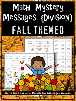 Division Facts Math Mystery Messages - Fall Edition