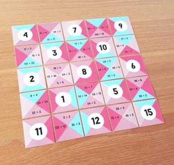 Division Facts Math Puzzle