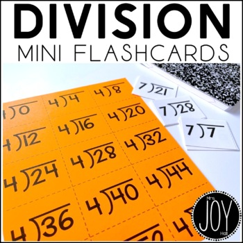 Division Facts Mini Flashcards- Separated by Number Sets