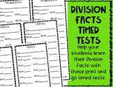 Division Facts Minute Tests