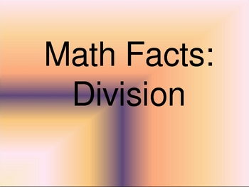 Division Facts PowerPoint