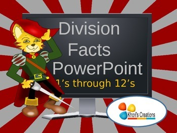 Division Facts PowerPoint (1's through 12's)