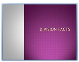 Division Facts PowerPoint- Math Facts