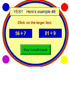 Division Facts Powerpoint One