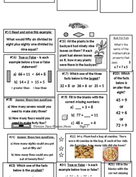 Division Facts Practice Sheets