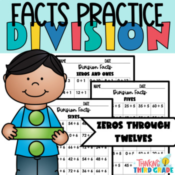 Division Facts Practice Worksheets Assessment, Homework, or Daily Review