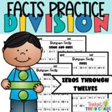 Division Facts Practice Worksheets Assessment, Homework, o