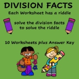 Division Facts Practice with Riddles  4th - 6th Grade