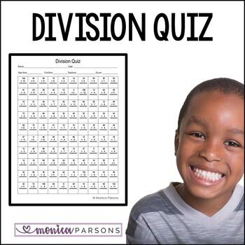 Division Facts Quiz