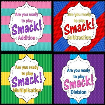 Math Fact Practice -Division Facts- SMACK! Game