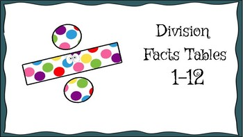 Division Facts Tables 1-12