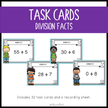 Division Facts {Task Cards}