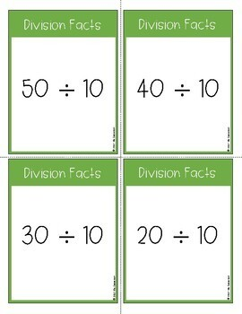 Division Facts Task Cards
